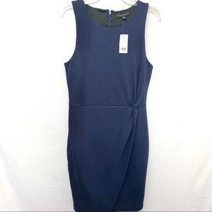Banana Republic Navy Blue Knit Side Twist Dress
